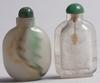 Snusflaskor, 2 st, bla sten. orientaliska.