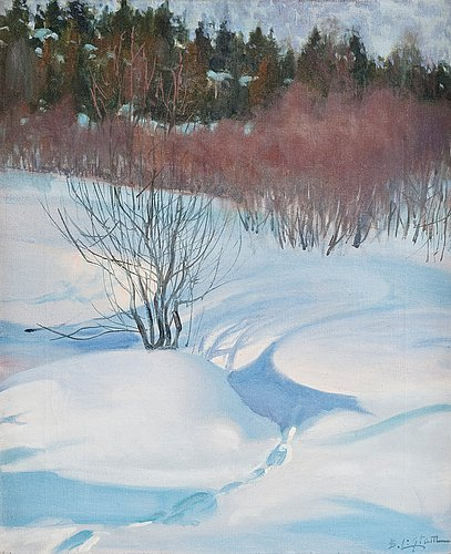 Berndt lagerstam, winter landscape.