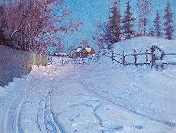 16. Vasili Levi, WINTER LANDSCAPE.