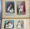 Brefkortsalbum med vykort, tidigt 1900-tal.