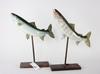 Fiskmodeller, 2 st, konstmassa.