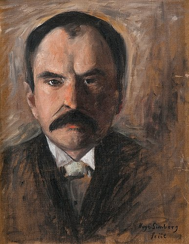 Hugo simberg, portrait of a man.