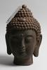 Buddhahuvud, järn, orientalisk.