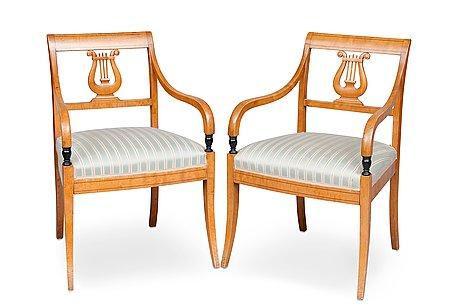 A pair of armchairs.