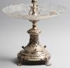 Bordsuppsats, nysilver/glas, nyrenässans, 1800-talets senare hälft.