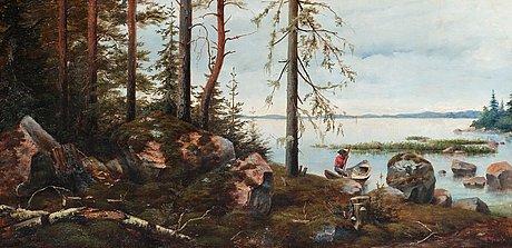 Vasilij pavlovich schreiber, a finnish landscape.