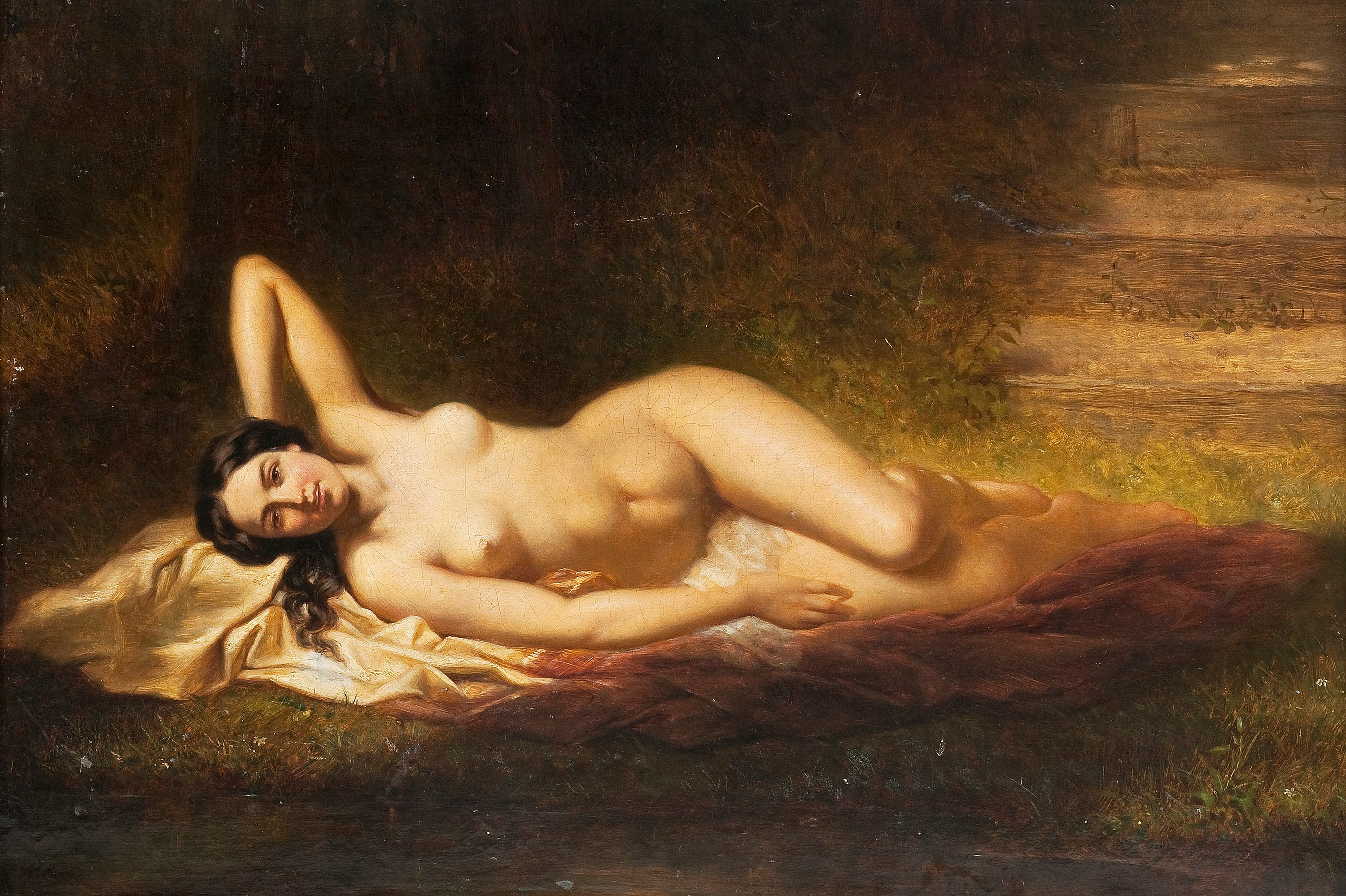 Reclining nude art photography where can