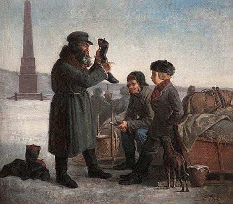 Albert edelfelt, jude som säljer stövlar.