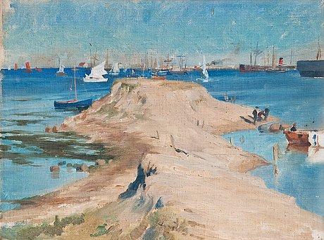 Albert edelfelt, sailing boats.