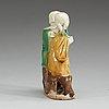 Figurin, porslin. qing dynastin, 1700-tal.