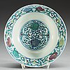 A doucai bowl, qing dynasty, with yongzhengs six character mark.