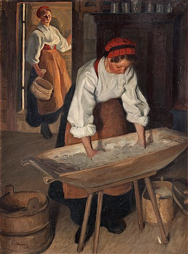 "Sam uhrdin, ""brödbak"" (baking bread)."