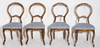 Stolar, 4 st, nyrokoko, 1800 tal