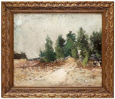"""Carl fredrik hill, """"skogsbacke"""" (wooded hillside)."""