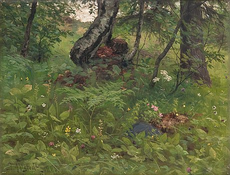 Fredrik ahlstedt, lush landscape.