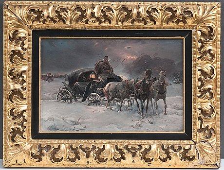 Alfred von wierusz-kowalski, resenÄr en vinternatt.