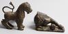 Parti figuriner, 5 st, metall, sten, ben, asien