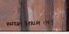 Berlin, gustav, 2 st, oljor, sign o dat 1964 1975