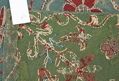 Wagon cushion, embroidered. skåne 1803.