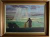 Parti konst, 3 delar, oljemålningar, 1900-tal.