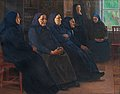 "VENNY SOLDAN-BROFELDT, ""PIETISTS"". Oil on c..."