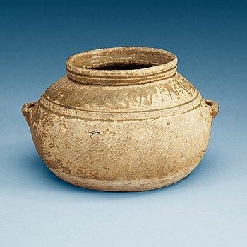 1449. A olive green glazed jar, Western Jin Dynasty, ca 300 AD.