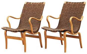 "584. BRUNO MATHSSON, ""arbetsstolen nr 41"", 1 par, Firma Karl Mathsson, 1940-50-tal."
