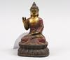 Figurin, metall. buddha.