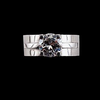 71. RING, briljantslipad diamant 1,62 ct si1. SJL serifikat.