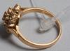 Ring, 18k guld och 19 diamanter enligt intyg tot ca 1ct.