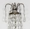 VÄgglampetter, ett par, gustaviansk stil, h 38.