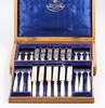 Bestickservis, 24 delar, silver och pärlemor, london 1896. svenska importstämplar.