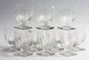 Glas, 10 st, empire, 1800-talets fösta hälft.