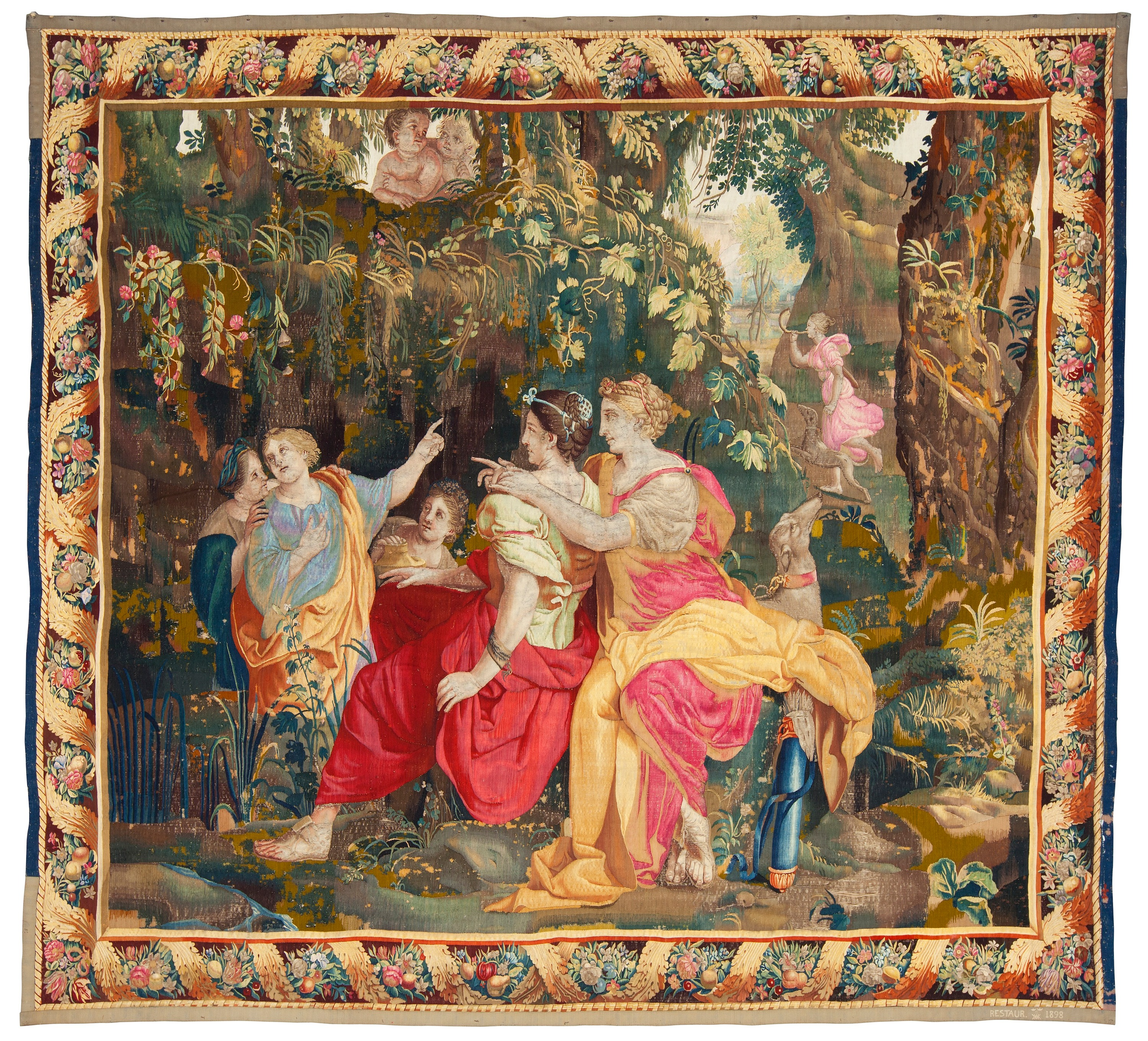 Tapestry Tapestry Weave Quot Seated Nymphs Quot From The Suite