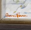 Person, rune. olja på duk. sign.