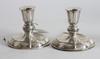 Ljusstakar, ett par, silver, rokokostil. 1954.