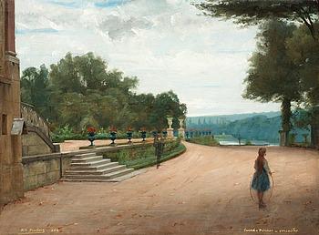 11. Nils Forsberg, Park scene from Versailles.