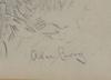 Borg, axel, blyertsteckning, sign.