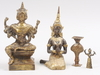 Parti figuriner, 4 st, metall, orientaliska.