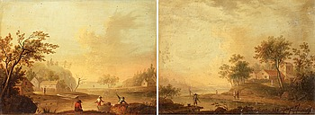 344. JOHAN PHILIP KORN, Landscape with lake.