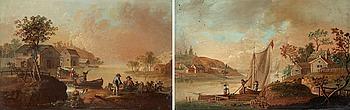 345. JOHAN PHILIP KORN, Landscape with lake.
