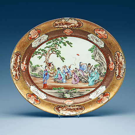 Fat, porslin. qing dynastin, qianlong (1736-95).