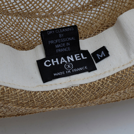 Chanel, straw hat.