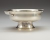 A silver bowl possibly designed by sylvia stawe, c.g hallberg stockholm 1930.
