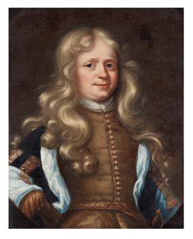 329. David Klöcker Ehrenstrahl, Portrait of a man, possible Andres von Behn (1650- after 1713).