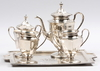 Kaffeservis, 5 delar, nysilver, 1900-talets första hälft.