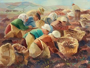 "12. Gerhard Wihlborg, ""Potatisplockare"" (Picking Potatoes)."