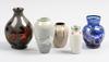 Parti glas och keramik, 5 delar. bla Åke holm, höganäs.