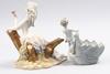 Figuriner, 2 st, porslin, bl.a. tengra, spanien.