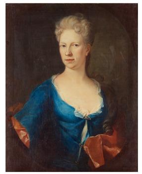 """326. David von Krafft Attributed to, """"Margareta Åkerhielm"""" (1677-1721)."""